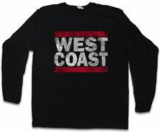 West Coast Uomo Manica lunga T-SHIRT RUN Fun USA United States New City East Side