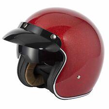 Vcan V537 casco de cara abierta Moto Motocicleta/- red Copo