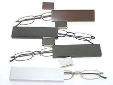 FLIP Occhiali Lettura con MOLTO Piatto Custodia in metallo – div. COLORI E FORZA