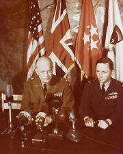 General Dwight Eisenhower after German surrender with Marshal Tedder Photo Print