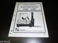 Betriebsanleitung Gabelstapler Forklift Elektro Stapler Hyster Stand 1994!