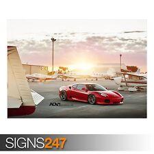 Picture Poster Print Art A0 A1 A2 A3 A4 0430 Car Poster FERRARI F430 RED