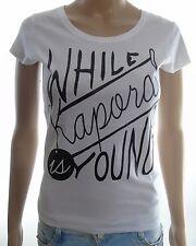 T shirt Kaporal Femme manches courtes NAVY Blanc