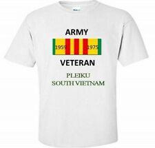PLEIKU * SOUTH VIETNAM * ARMY VIETNAM VETERAN RIBBON 1959-1975  SHIRT