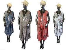 Kleid Sommerkleid Strandkleid Rosenmuster Pastelltöne EG Gr.42/44/46 Italien