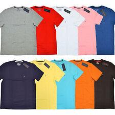 Tommy Hilfiger T-Shirt Cuello Redondo Camiseta Hombre Ajuste Clásico Manga Corta