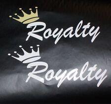 Royalty DECAL car window Sticker Pick Your Color jdm slammed stance Sticker