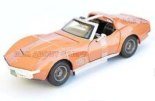 CHEVROLET CORVETTE 1970 1:24 metal model Gold Toy Car models cars