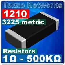 50X 1210 ( 3225 Metric ) Smd / Smt Resistors - 50pcs [ Range: 1 - 1M Ohm ]