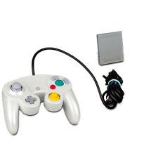 ORIGINAL NINTENDO GAMECUBE CONTROLLER WHITE / WEISS + ORIGINAL 4 MB MEMORY CARD