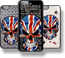Gothic Biker Skull & Union Jack British GB UK Flag CASE COVER FOR APPLE iPhone