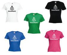 'Keep Calm I'm a Paramedic' Ladies Ambulance Girls Funny T-shirt