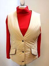 Weste-Damen Nickel Fashion, beige gesteppt, 2-Pattentaschen, 3-Druckknöpfe, Poly