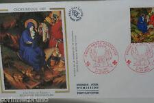 ENVELOPPE PREMIER JOUR SOIE 1987 CROIX-ROUGE BROEDERLAM