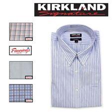 NEW Kirkland Signature Men's TRADITIONAL Button Collar Dress Shirt HUGE VARIETY!