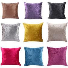 Cushion Cover Velvet Pillow Case Sofa Bed Pillowcase Hidden Zipper Solid Color