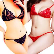 Sexy-Lingerie Bra+Underwear Panties Briefs Bikini-Sleepwear-Lace-Women-Babydoll