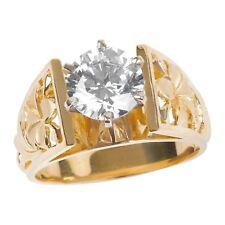 Hawaiian Heirloom Jewelry 14k Yellow Gold Cubic Zirconia Wedding Engagement Ring