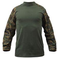 combat shirt woodland digital camo tactical style various sizes rothco 90005
