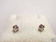 orecchini argento rosa 2,5 Earrings Swarovski stone