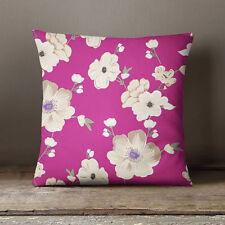 S4Sassy Coussin indien Coussin Housse Floral imprimé Dark Pink Pillow Case