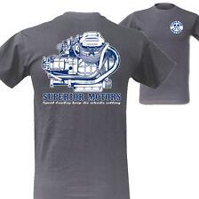 Vintage Guzzi T-Shirt Backprint Superior Motors Moto Guzzi Cafe Racer Motorrad