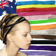 10pcs Elastic Hairband Hair Band Yoga Dance Tie Skinny Headband Sports JHBAN57