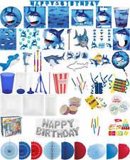 Kinder-Geburtstag Party Deko Feier Fete Motto Hai Fisch Meer