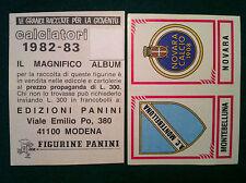 CALCIATORI 1982-83 82-1983 n 578 MONTEBELLUNA NOVARA - Figurina Panini velina