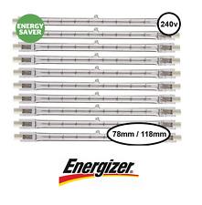 Energizer Économie d'Énergie R7s lampe halogène linéaire 100W 150W 200W 78 118mm