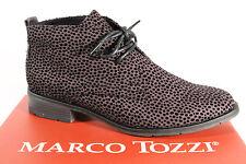 MARCO TOZZI Bottes pour femme 25101 bottines bottes à lacets, bottes Gris Neuf