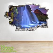 ISLANDE chute autocollant mural 3D LOOK - chambre salon nature Z257
