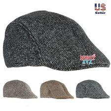 Vintage Classic Men Soft Cotton Gatsby Cap Newsboy Ivy Hat Golf Hat Flat Cabbie
