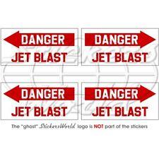 DANGER JETBLAST Aéronef Hélicoptèr RAF 50mm Autocollant x4 Stickers
