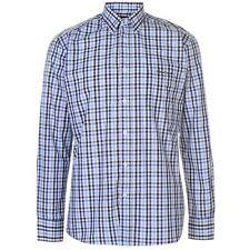 Chemise Pierre CARDIN à carreaux noir/bleu/blanc - Disponible du M au XXXL