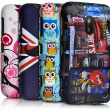 Housse Etui Coque Semi Rigide avec Motif pour Nokia Lumia 620 + Film de Protect