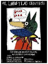 El Lobo y los chivitos vintage Movie POSTER.Color Graphic Design.Art Decor.3783