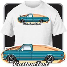 Custom Art T-Shirt 1969-72 GMC Sierra Chevy C-10 Cheyenne C/K long Pickup Truck