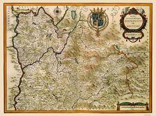 Old France Map - Southeastern Wine Region - Jansson 1638 - 23 x 30.89