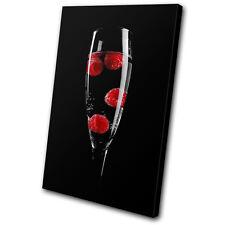 Food Kitchen Wine Glass SINGLE TOILE murale ART Photo Print
