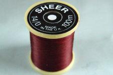 100m Fil SHEER montage BORDEAUX 14/0 peche mouche thread fly tying