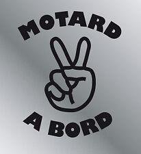 Sticker vinyle adhésif Motard à bord autocollant moto auto maison