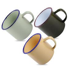 8cm Popular Handmade Enamel Cup Mug For Coffee Bear Tea Camping Hiking Drinking