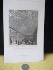 Vintage Print,INTERIUER DE LA GALERIE,Paris,1830-31,Jenning+Chaplin,Steel Engrav