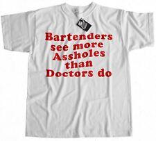 Bartenders See More T-Shirt 100% Premium Cotton Funny Rude Pub