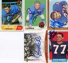 Bills Stew Barber  1964 Topps signed card