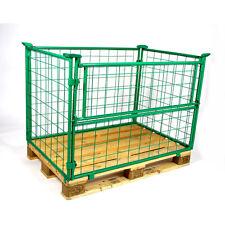 Palettenaufsatzrahmen Gitteraufsatzrahmen 1200x800x800mm RAL 6017 grün