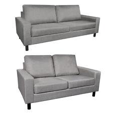 vidaXL Stoffsofa Hellgrau Polstersofa Loungesofa Couch Sofa Sitzmöbel 2/3-Sitzer
