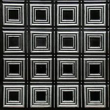 Faux Tin Square Pattern Decorative Ceiling Tiles 24x24 #153