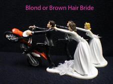 Wedding Cake Topper With KTM Dirt Bike Motorcycle White Black Hispanic Groom top